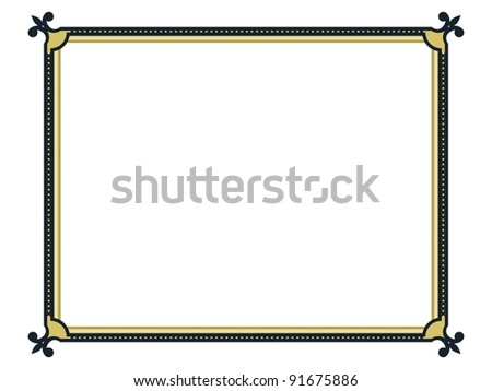 decorative frame, vector