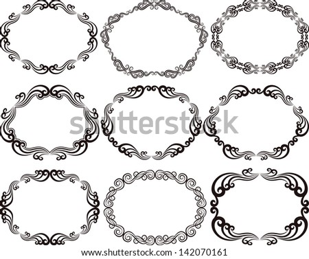 decorative frames oval
