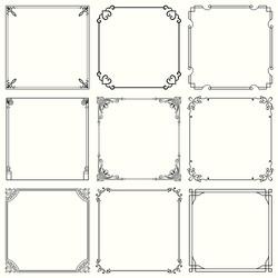 Decorative frames (set 32)