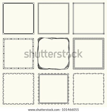 Decorative frames (set 16)