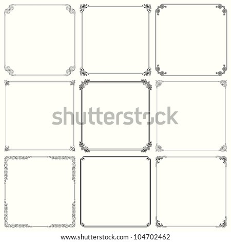 Decorative frames (set 23)