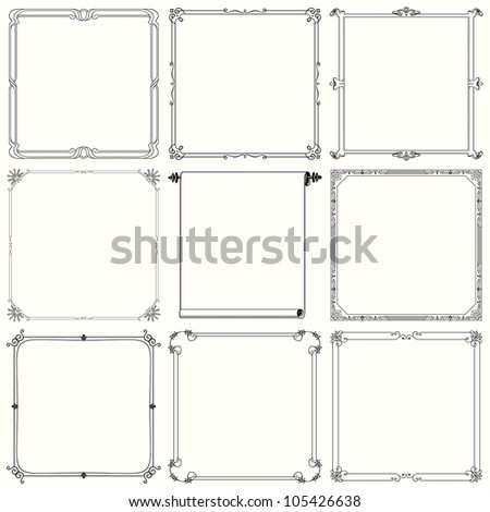 Decorative frames (set 21)