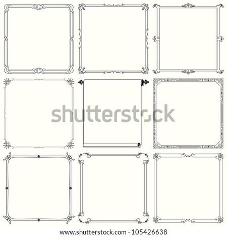 Decorative frames (set 21)
