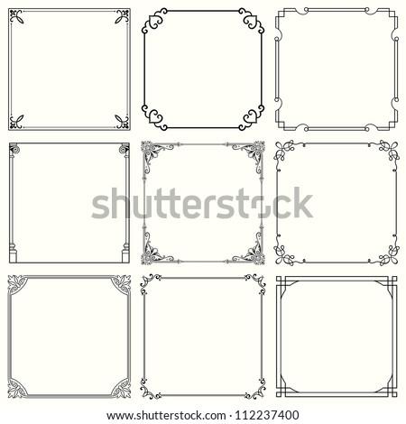 decorative frames  set 32