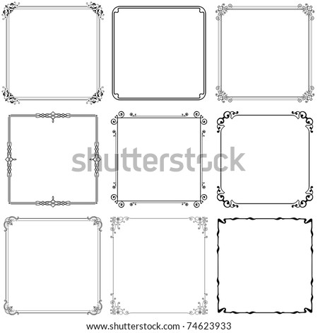 Decorative frames (set 10)