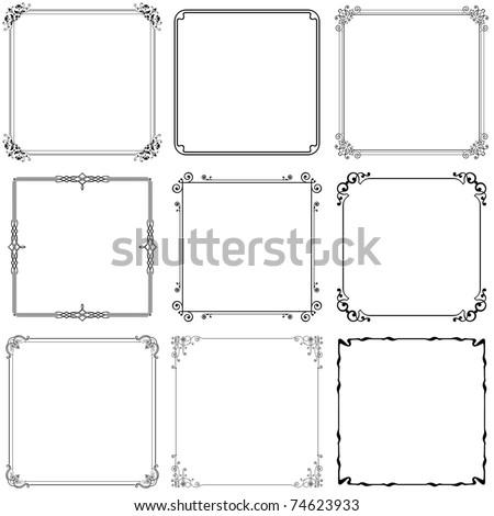Decorative frames (set 10)