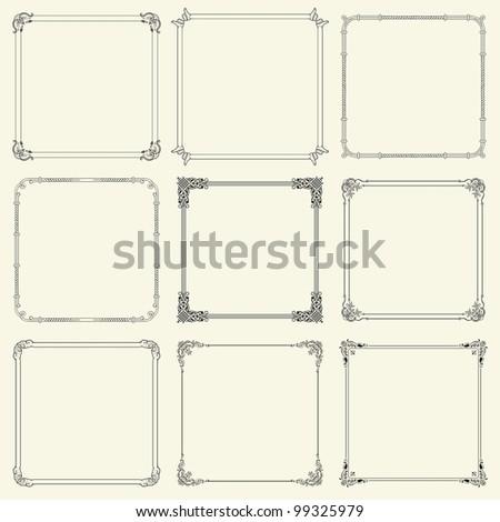 decorative frames  set 12