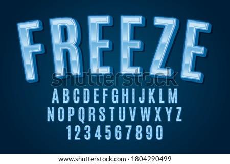 decorative freeze Font and Alphabet Stockfoto ©