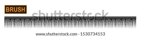 Decorative fringe brush for fashion and digital illustration. Customizable and colorizable trimming. Stockfoto ©
