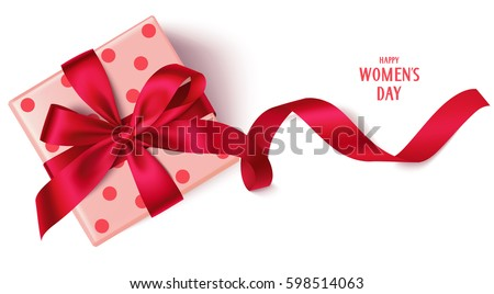 decorative gift box with red...