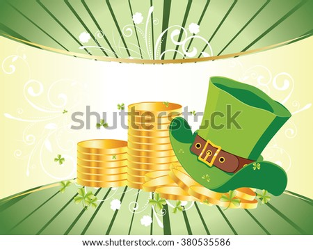 http://www.shutterstock.com/pic-380535586/stock-vector-decorative-gold-and-green-design-for-st-patricks-day-holiday-background.html