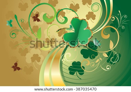 http://www.shutterstock.com/pic-387035470/stock-vector-decorative-gold-and-green-design-for-st-patricks-day-holiday-background.html