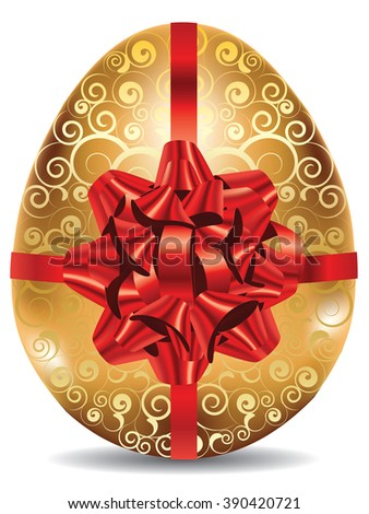 http://www.shutterstock.com/pic-390420721/stock-vector-decorative-golden-egg-with-festival-red-bow-on-white-background.html