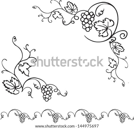 Simple Vine Swirl Border Free Vector Download For Commercial Use Format Ai Eps Cdr Svg Graphic Art Design With Drawing Grape Vines