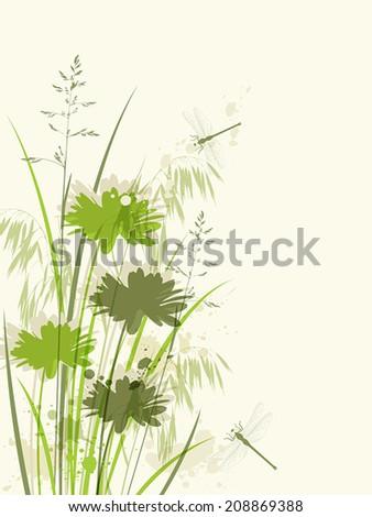 decorative green floral