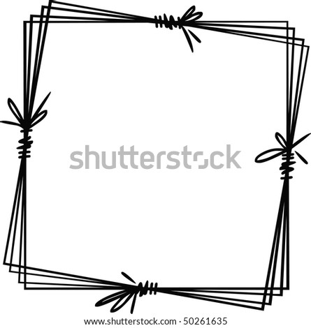 Decorative hand-drawing frame