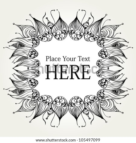 decorative hand drawn frame with space for your message