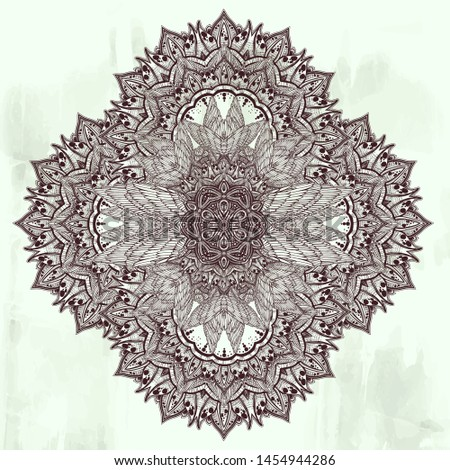 Decorative hand drawn highly detailed complex ornament pattern. Floral art in ethnic spiritual, boho style. Exotic romantic tattoo. Feathers and traditional decor fusion vector isolated illustration.