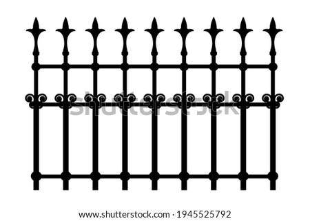 decorative iron wrought fence