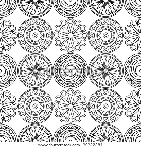 Decorative lacy seamless pattern