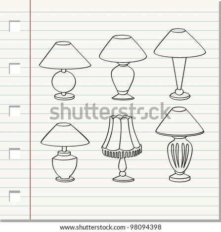 decorative lamp vector