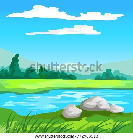 decorative landscape background