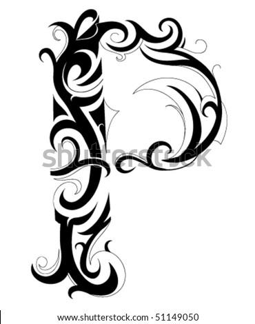 Decorative Letter Font Type P 51149050