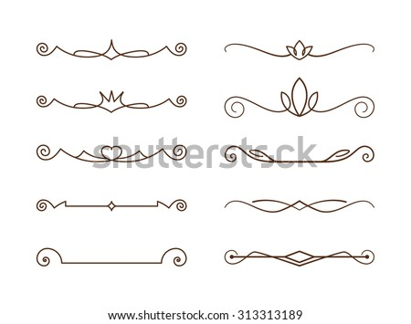 Decorative lines, editable