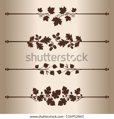Decorative lines Elements for design decorative line dividers Floral Pattern Vector illustration.