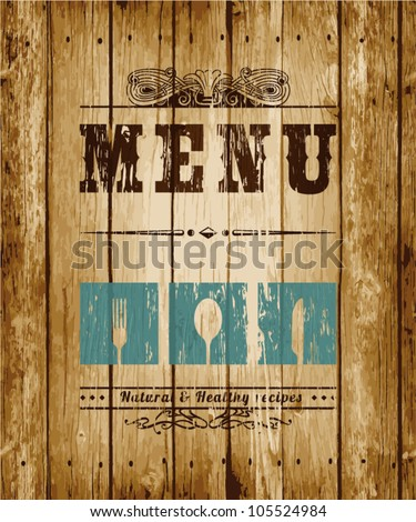 Decorative Menu card. Vector Illustration.