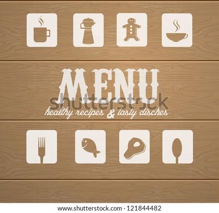 Decorative Menu card. Vector Illustration. - stock vector