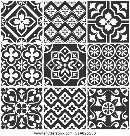 decorative monochrome tile...