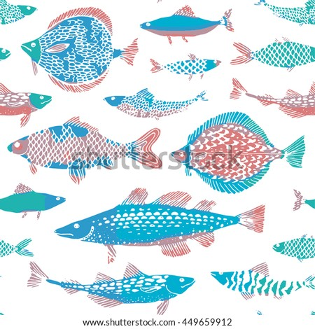 decorative ocean fish pattern