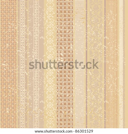Decorative old striped seamless background in brown