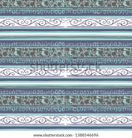 Decorative ornament, geometric elements for fabric, textile, web design, wrapping paper. #1388546696