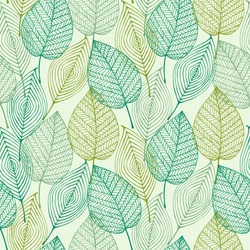 Decorative ornamental seamless spring pattern. Endless elegant texture with leaves. Tempate for design fabric, backgrounds, wrapping paper, package, covers