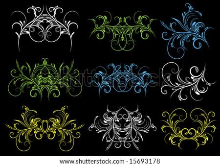 decorative  ornaments for design, vector