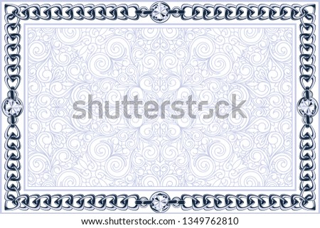 Decorative ornate design with chain links and diamonds