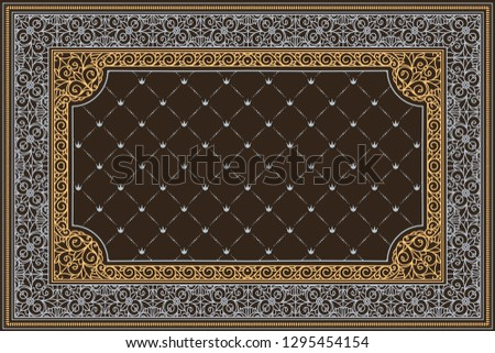 Decorative ornate retro design