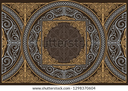 Decorative ornate retro design card