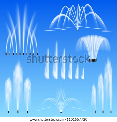 decorative outdoor water jets