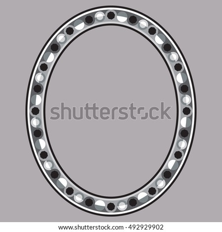 Vector Images Illustrations And Cliparts Decorative Oval Frame