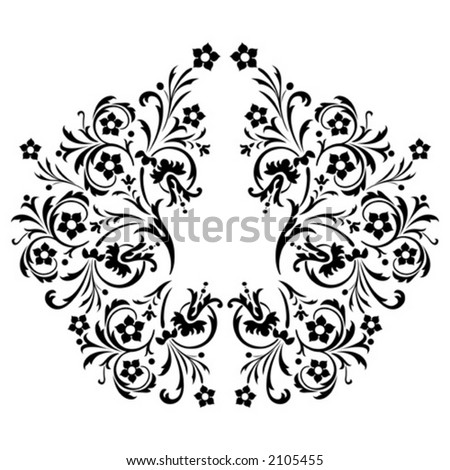 decorative pattern, vector illustration, design element, background - stock vector