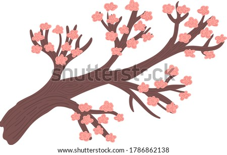 decorative pink sakura tree