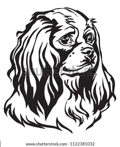 decorative portrait of dog