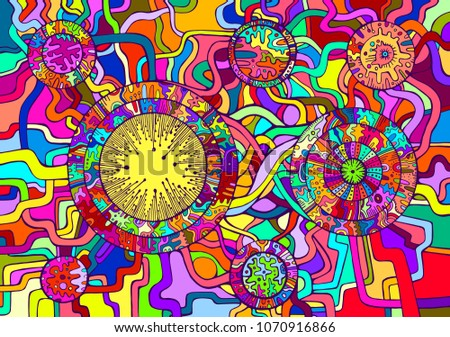 decorative psychedelic abstract