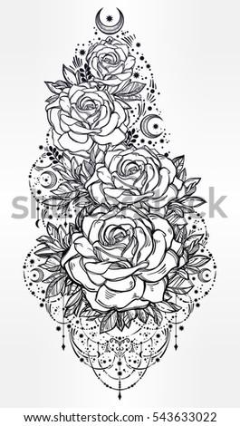 decorative rose flower stem