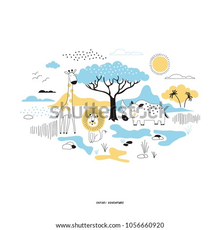 decorative safari illustration