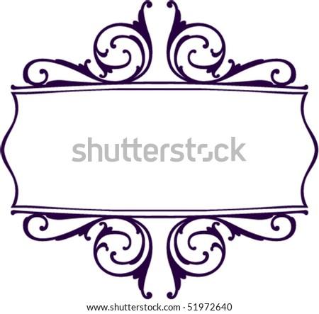 Decorative Scroll And Border Stock Vector Illustration ...