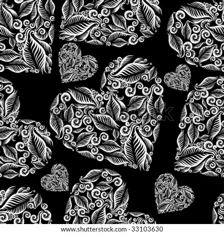 "Decorative seamless heart pattern. Saint Valentine's Day.  (From my big ""Seamless collection"")"